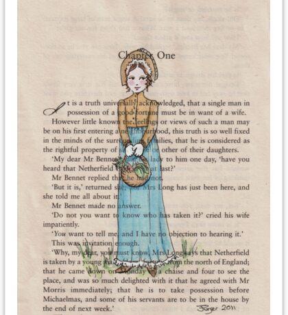 Pride and Prejudice chapter one. Elizabeth Bennet Sticker