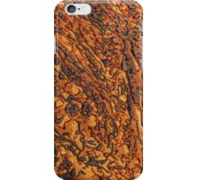 Yellow-brown marble texture. Horizontal landscape orientation iPhone Case/Skin