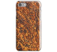 Yellow-brown marble texture. Horizontal landscape orientation iPhone Case/Skin