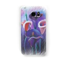 Purple Callas With Fringed Edge Border Samsung Galaxy Case/Skin