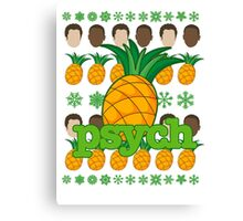 Psych TV Show Shawn Gus Pineapple Holiday Theme Canvas Print