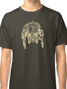 One Line Predator Portrait (white) Classic T-Shirt