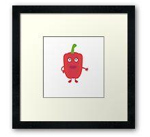 Red Capsicum Framed Print