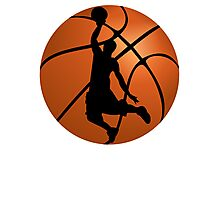 Basketball Dunk Silhouette Photographic Print