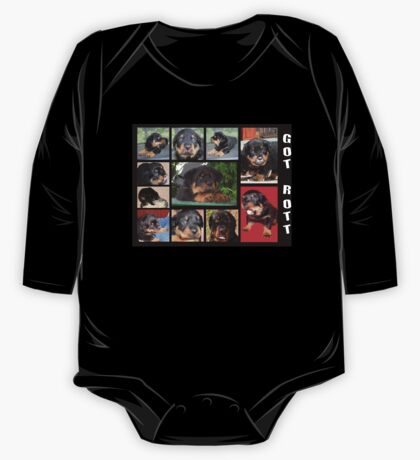 Rottweiler With Got Rott? Message Collage One Piece - Long Sleeve