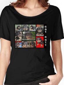 Rottweiler With Got Rott? Message Collage Women's Relaxed Fit T-Shirt