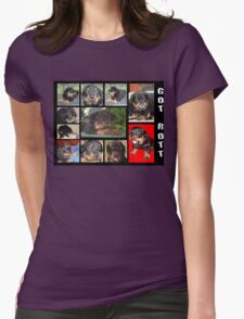 Rottweiler With Got Rott? Message Collage Womens Fitted T-Shirt