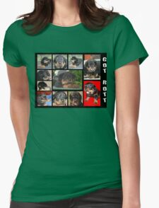Rottweiler With Got Rott? Message Collage T-Shirt