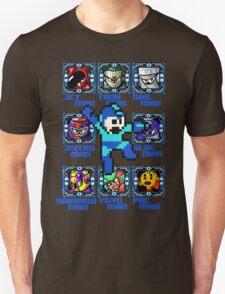 Mega Man NES Nintendo 8-Bit  T-Shirt