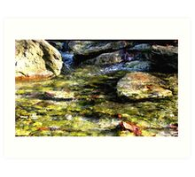 Mountain Stream Music Art Print