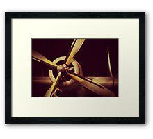 Vintage Plane Propellor Framed Print