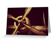 Vintage Plane Propellor Greeting Card