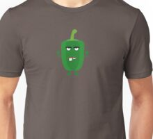 Green angry Capsicum Unisex T-Shirt