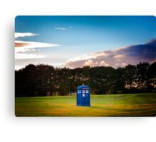 The TARDIS & sunset Canvas Print