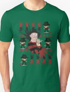 Nightmare On Elm Street Freddy Ugly Holiday X-Mas Design T-Shirt