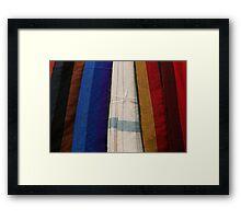 Hammocks in Numerous Colors Framed Print