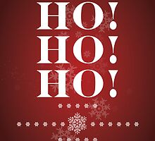 """Ho Ho Ho"" (Crimson) Christmas Card by Karl Smyth"
