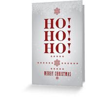 """Ho Ho Ho"" (Silver) Christmas Card Greeting Card"
