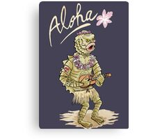 Aloha from black lagoon Canvas Print