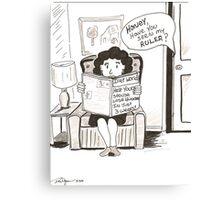 Diet plan? Canvas Print