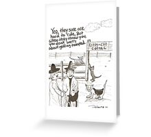 Cat corral Greeting Card