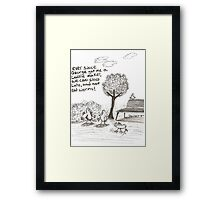 Early worm Framed Print