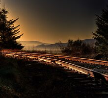 Tracks at the coast by pdsfotoart