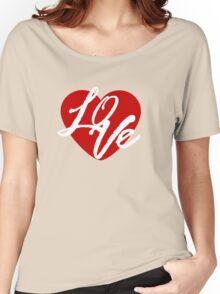 Love Heart Women's Relaxed Fit T-Shirt