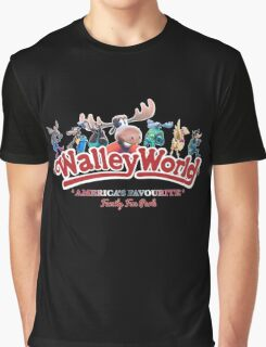 Walley World - All Characters logo America's Favourite Straight bold logo Graphic T-Shirt