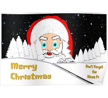 Don't Forget the Mince Pies - christmas card Poster