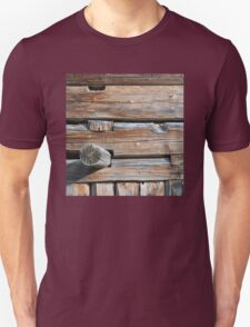Old Log Wall 2 Unisex T-Shirt