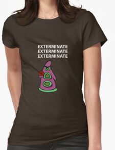 Exterminate/ day of tentacle Womens Fitted T-Shirt