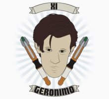 Doctor Who Portraits - Eleventh Doctor - Geronimo Kids Tee