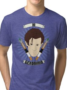 Doctor Who Portraits - Eleventh Doctor - Geronimo Tri-blend T-Shirt