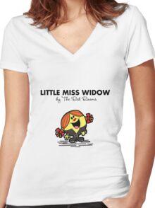 Little Miss Widow Women's Fitted V-Neck T-Shirt