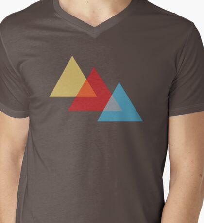 Primary Triangles Mens V-Neck T-Shirt