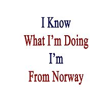 I Know What I'm Doing I'm From Norway  Photographic Print