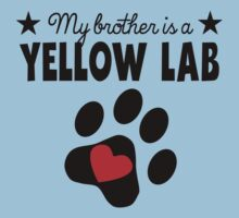 My Brother Is A Yellow Lab One Piece - Short Sleeve