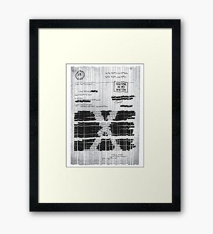 Ex-File Framed Print