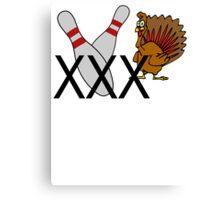 Bowling Turkey Canvas Print