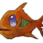 Orange Zombie Fish by Cantus