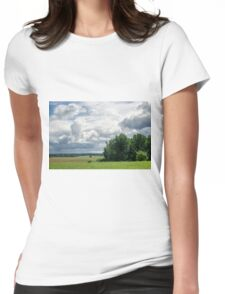Beautiful landscape in Latvia Womens Fitted T-Shirt