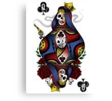 GAMBLING QUEEN Canvas Print