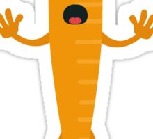 Carrot man Sticker