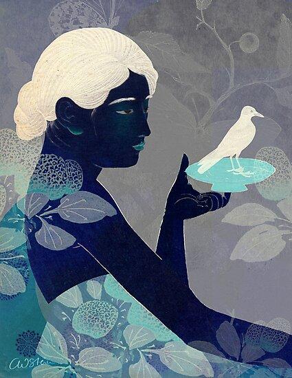 Bird on a plate by Catrin Welz-Stein