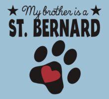 My Brother Is A St. Bernard One Piece - Short Sleeve