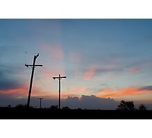 Sunset at the Pawnee Grassland in Spring III Photographic Print