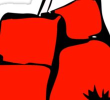 Red Boxing Gloves Sticker