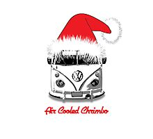 VW Camper Air Cooled Christmas Photographic Print