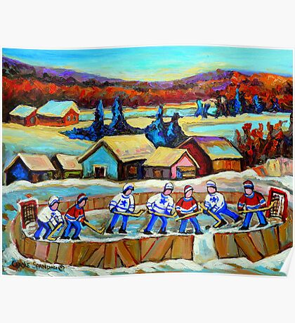 POND HOCKEY HAPPY CHILDHOOD MEMORIES Poster
